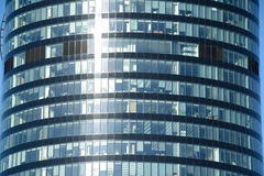 Part of Sky Tower office building in Wroclaw, Poland Royalty Free Stock Photos