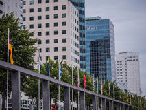 Part of the skyline of Rotterdam Stock Photography