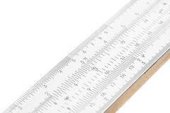 Part of slide ruler isolated on white background Stock Image