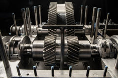 A part of a small steam turbine. Royalty Free Stock Images