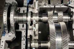 A part of a small steam turbine. Stock Photos