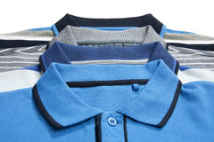 Part of some man polo shirts Stock Photography