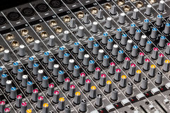 Part sound board mixer Royalty Free Stock Images