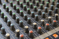 Part sound board mixer Stock Photos