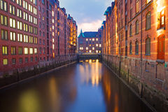 Part of the Speicherstadt Stock Images