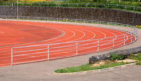 Part of sport stadium with running tracks Royalty Free Stock Image