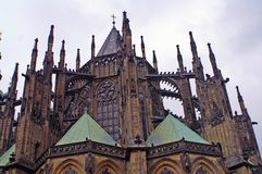 Part of St. Vitus Cathedral Stock Photography