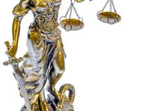 Part of statue of Lady Justice Stock Image