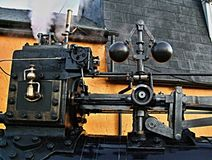 Part of steam engine. Royalty Free Stock Photo