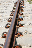 Part of the steel railway Royalty Free Stock Photography