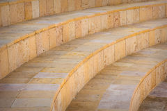 Part of stone circled stairs in the amphitheater, outdoors Stock Image