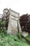 Part of stone Lowenburg Castle, in Kassel, Germany Stock Image