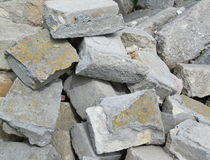 Part of a stone pile Stock Images