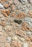 Part of a stone wall background Royalty Free Stock Photo