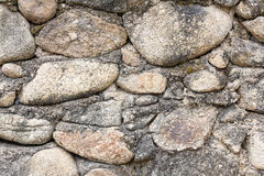 Part of a stone wall, for background or texture Royalty Free Stock Images