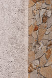 Part of the stone wall. Stock Photography