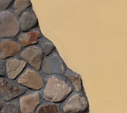 Part of the stone wall. Stock Photos