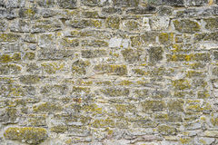 Part of a stone wall for background or texture Royalty Free Stock Image