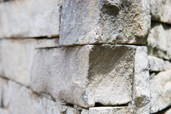 Part of stone wall in park Stock Photo