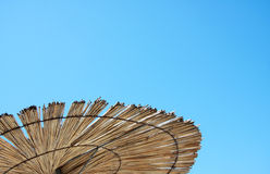 Part of straw parasol Stock Images