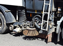 Part of the street cleaner vehicle Stock Photography