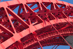 Part of strong bridge closeup Royalty Free Stock Images