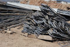 Part of the structural element of the reinforcement. royalty free stock photo