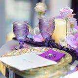 Part of stylish indoor wedding party interior Stock Photo