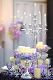 Part of stylish party or date interior Royalty Free Stock Images