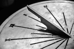 Part or Sundial. In black and white Royalty Free Stock Image