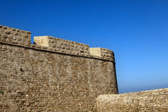 Old Acco City Wall. Part of a surrounding stone wall, located at the old city of Acco, Israel Stock Image