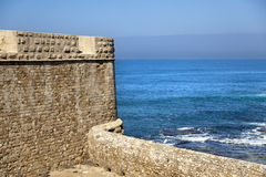Old Acco City Wall & Sea Royalty Free Stock Image