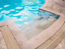 Part of swimming pool. With blue water Stock Images