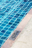 Part of swimming pool for detail of deep Stock Photography