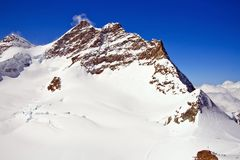 Part of The Swiss Alpine Alps at Jungfraujoch Royalty Free Stock Photos