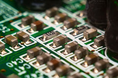 Part of system board Stock Photos