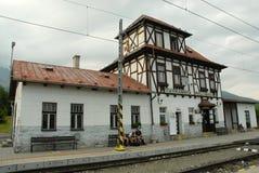 Slovakia, High Tatras, Tatranska Polianka, railway station stock image