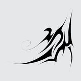 Part of the tattoo. Abstract symbol. Eps10 Royalty Free Stock Photography