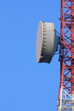 Part of a telecommunication tower with antenna Royalty Free Stock Image