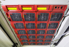 Part of telecommunications equipment Stock Photo