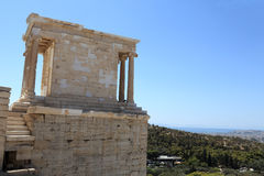 Part of temple of Athena Nike Stock Photography