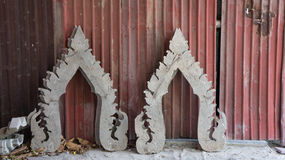 Part of temple on old zinc. Part of temple on old zinc in Thailand Royalty Free Stock Photos