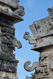 Part of  temple of reliefs in Chichen Itza. Royalty Free Stock Photos