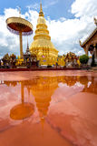 Part of the temple Wat Phra That Haripunchai in Lamphun Royalty Free Stock Image