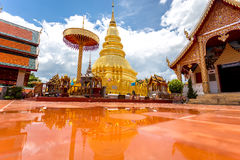 Part of the temple Wat Phra That Haripunchai in Lamphun Stock Photography