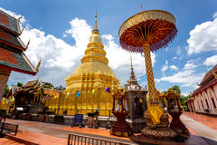 Part of the temple Wat Phra That Haripunchai in Lamphun Royalty Free Stock Images