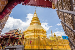 Part of the temple Wat Phra That Haripunchai in Lamphun Stock Photos