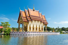 Part of temple Wat Plai Laem on Samui island Royalty Free Stock Image