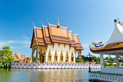 Part of temple Wat Plai Laem on Samui island. Thailand Royalty Free Stock Photos