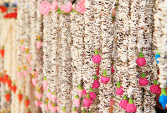 Part of Thai traditional large garland Royalty Free Stock Photos